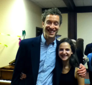Piano Power founder Abraham Levitan and Piano Power student Rebecca