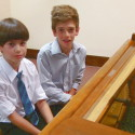 Two boys at piano