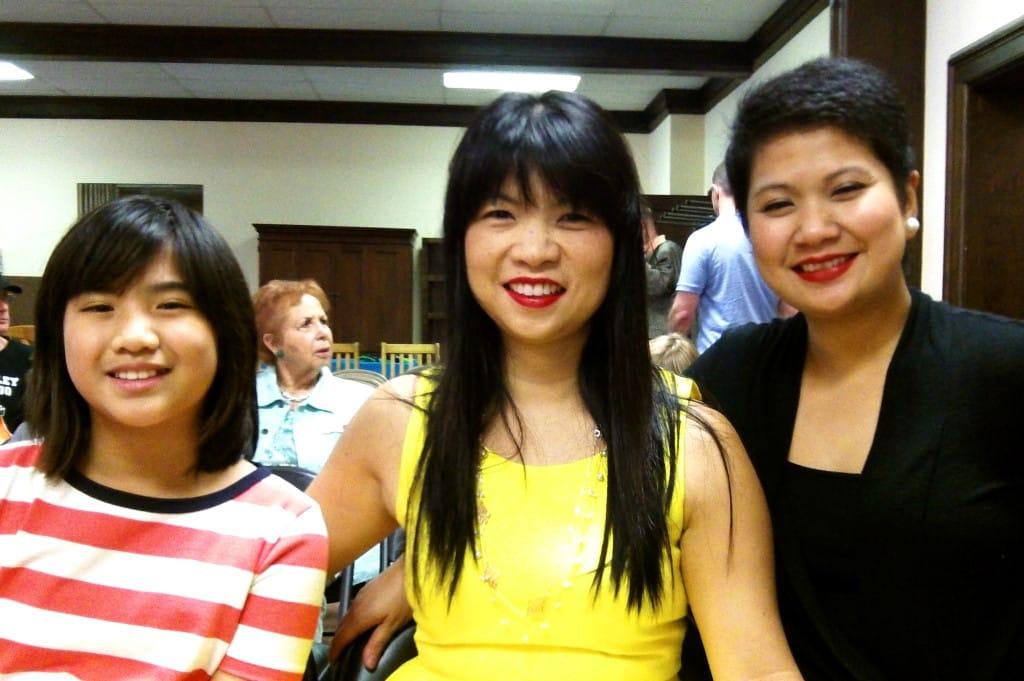 Piano Power family at recital