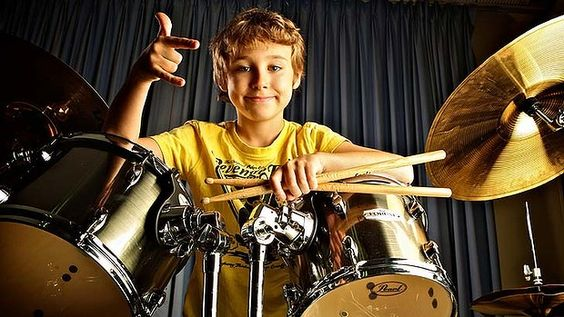 boy at drums
