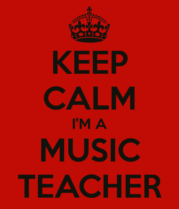 keep calm I'm a music teacher