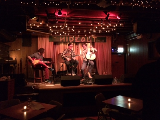 musicians playing at the Hideout in Chicago