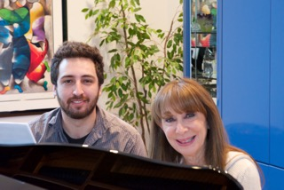 Piano Power Student Debby Dubow and teacher Doug Ferdinand