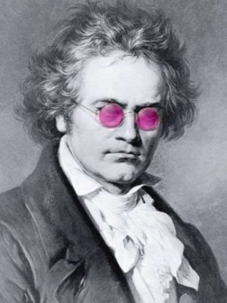 Beethoven: Great glasses, not so great hearing.