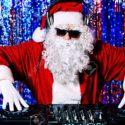 DJ Santa mixing up some Christmas cheer
