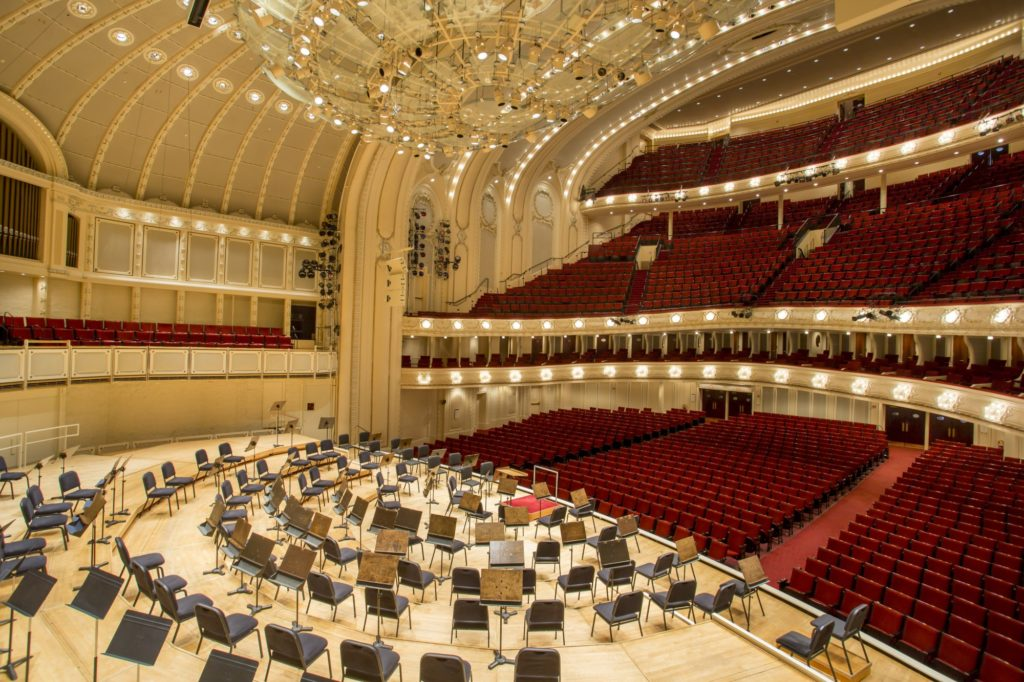 Orchestra Hall at Symphony Center in Chicago