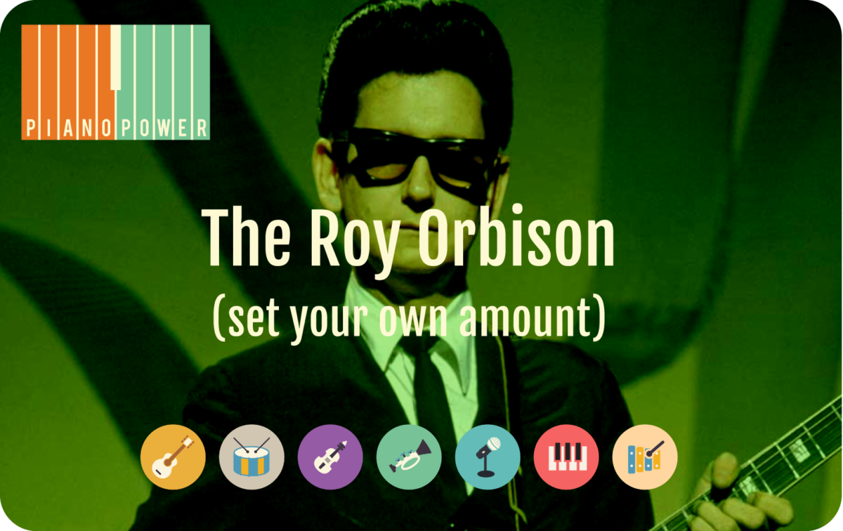 gift card with Roy Orbison and instrument icons